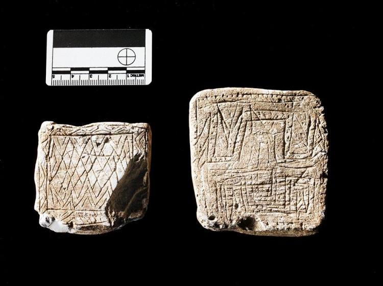 Stonehenge Incised Chalk Plaques
