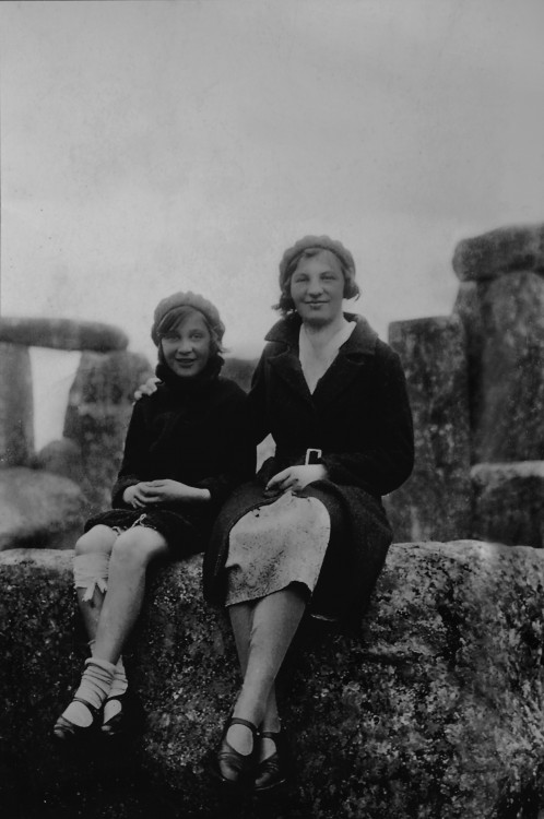 Touching the Stones at Stonehenge