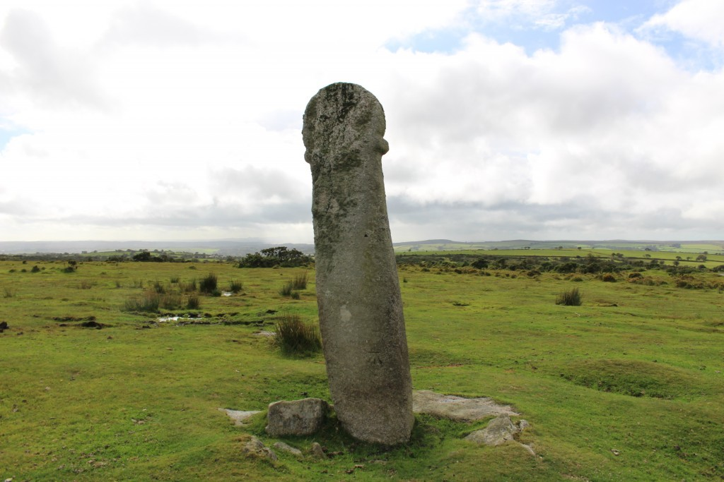 The Longstone or Long Tom Cross Bodmin Moor