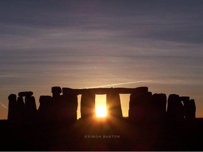 Mid Winter sunset Stonehenge