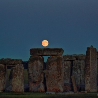 Monrise over Stonehenge Colin Wheeler