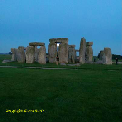 Moonrise at Stonehenge 27 September 2015