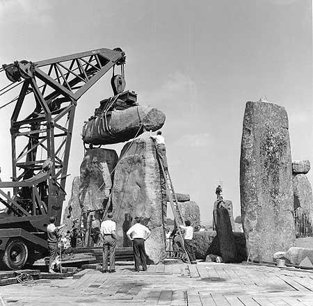 Restorations at Stonehenge.