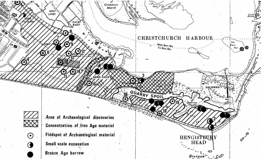 Hengistbury Head Excavation Map