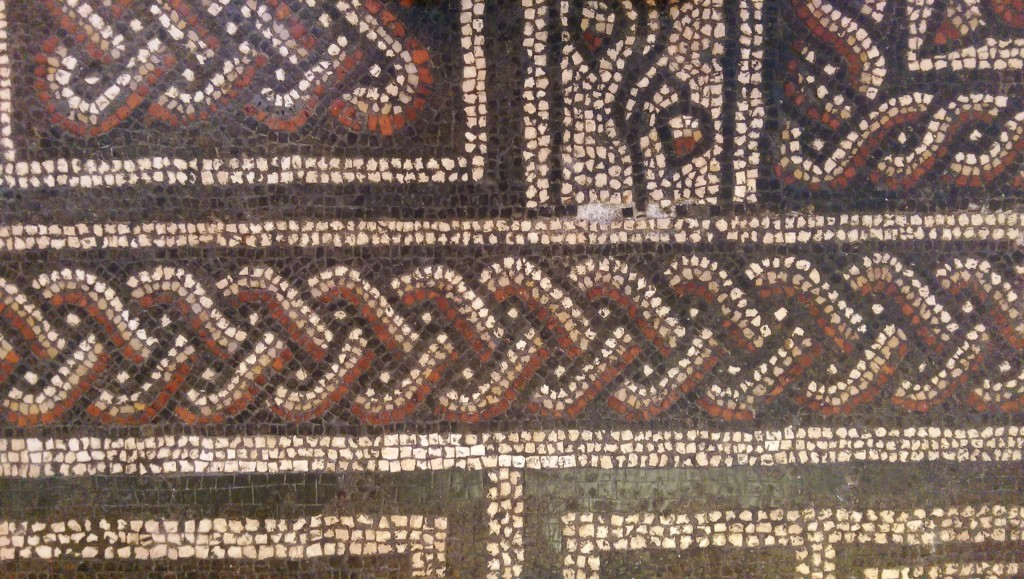 Roman mosaic floor at Dorset County Museum
