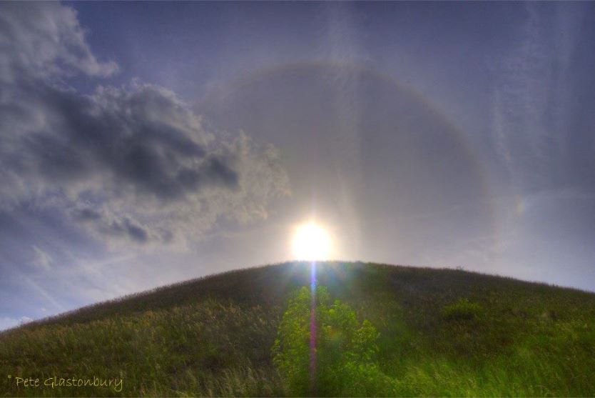 A sun dog at Silbury Hill photographed by Pete Glastonbury