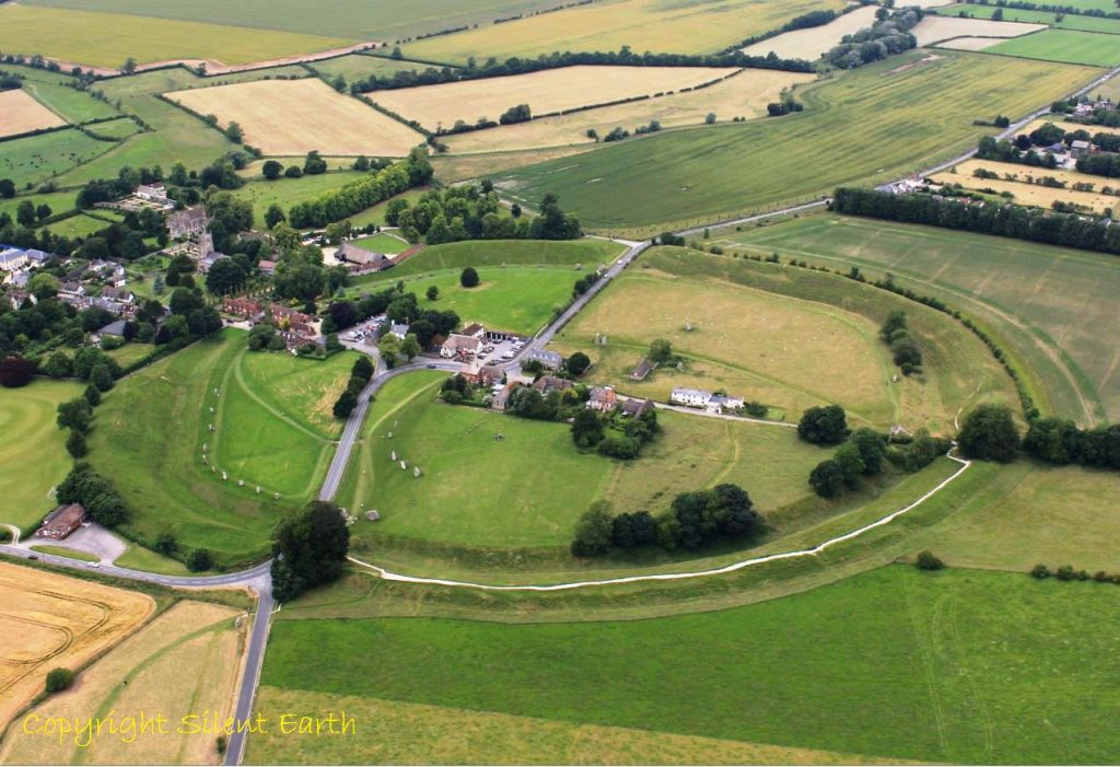 Avebury stone circles Wiltshire From The Air