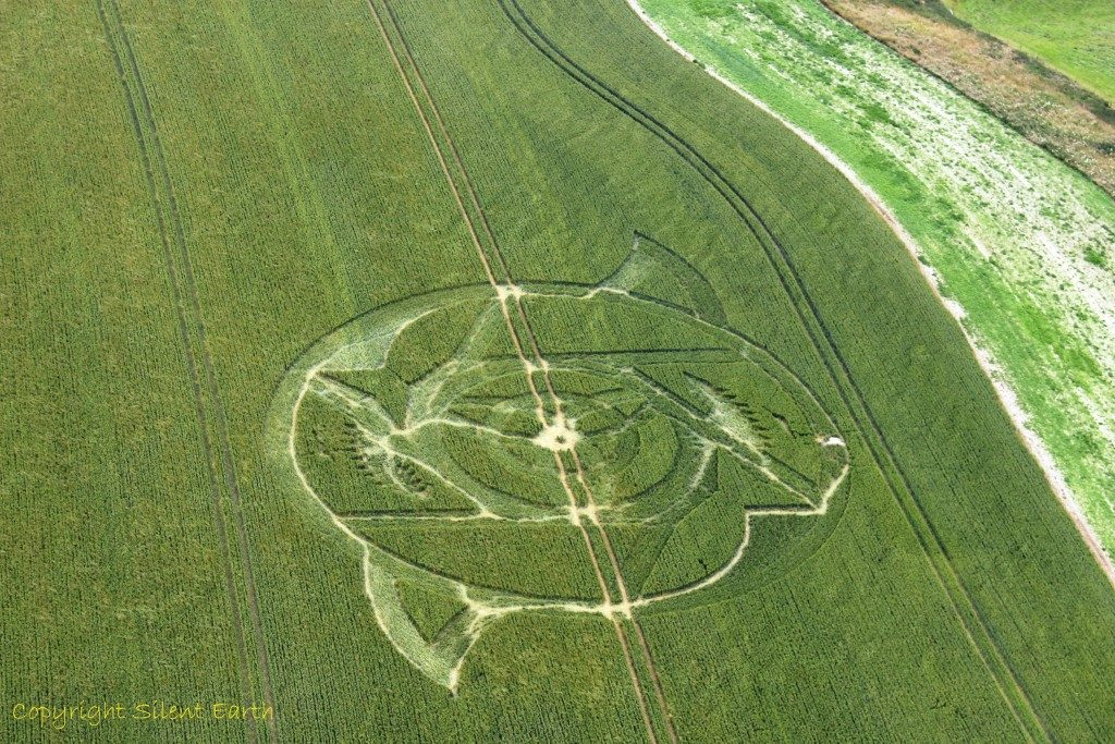 Crop circle Wiltshire From The Air