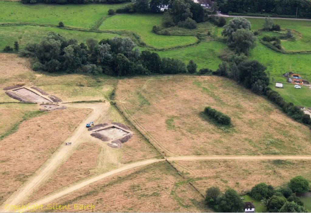 Marden Henge excavations 2016 Wiltshire From The Air