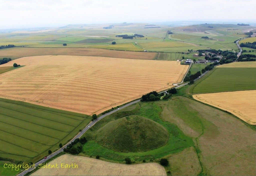 Silbury hill Wiltshire From The Air