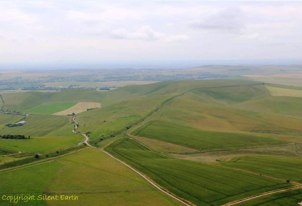 Wansdyke Wiltshire From The Air