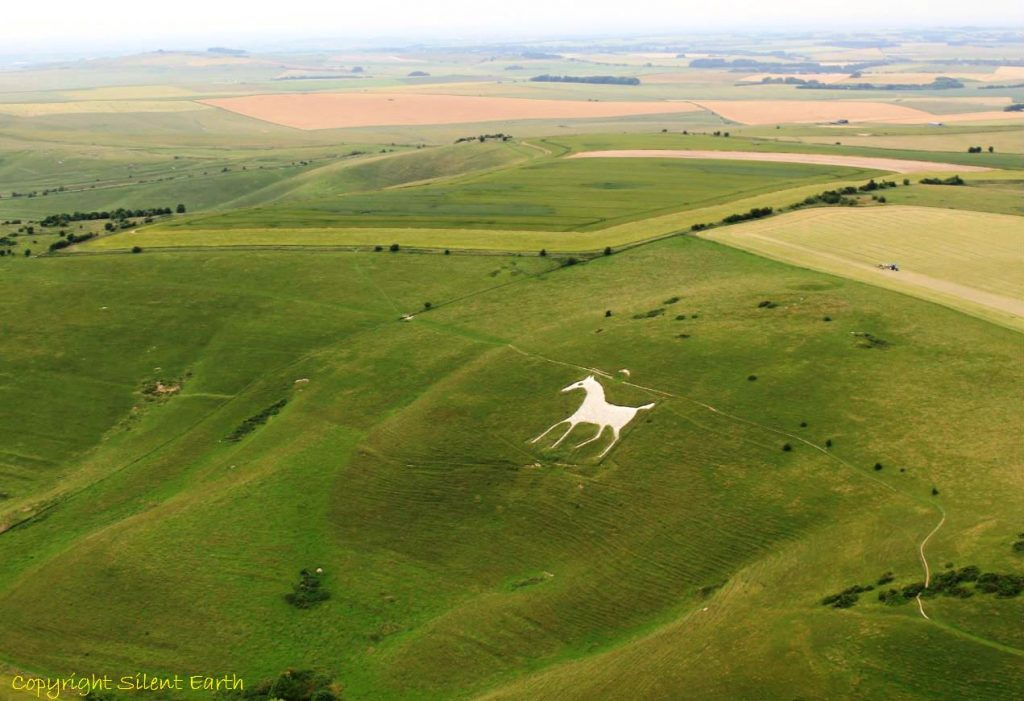 Alton Barnes white horse Wiltshire From The Air