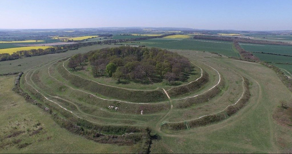 Badbury rings hillfort Dorset
